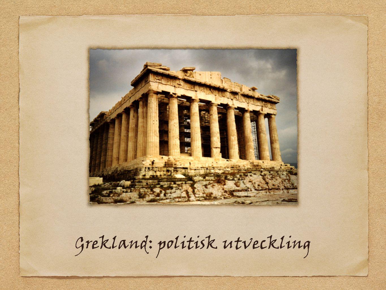 Grekland: politisk utveckling