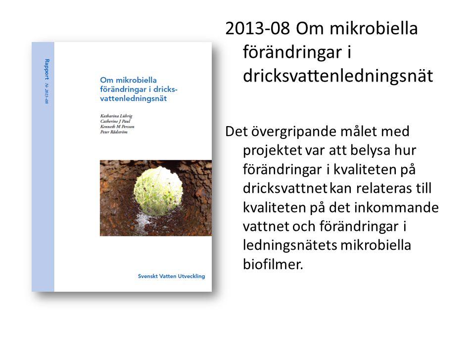 2013-08 Om mikrobiella förändringar i dricksvattenledningsnät