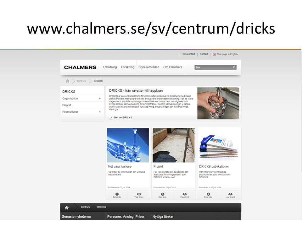 www.chalmers.se/sv/centrum/dricks