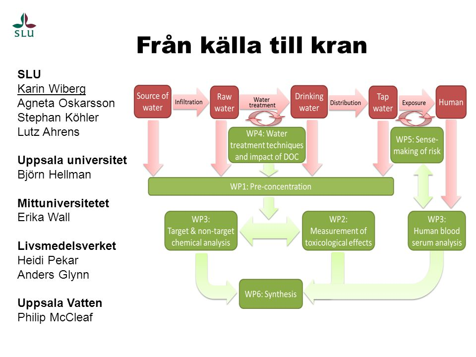 Från källa till kran SLU Karin Wiberg Agneta Oskarsson Stephan Köhler