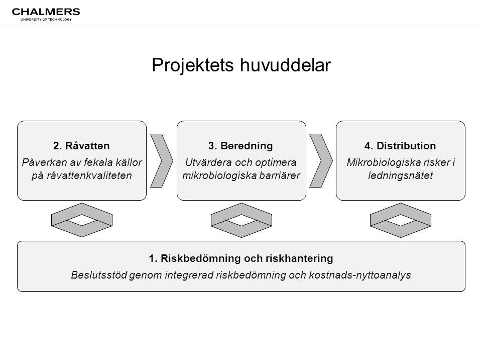 Projektets huvuddelar