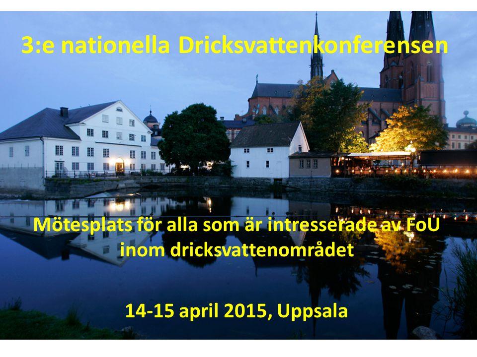 3:e nationella Dricksvattenkonferensen