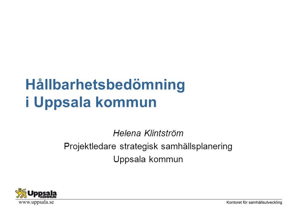Hållbarhetsbedömning i Uppsala kommun