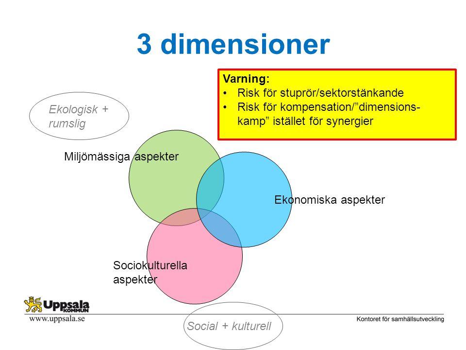 3 dimensioner Varning: Risk för stuprör/sektorstänkande