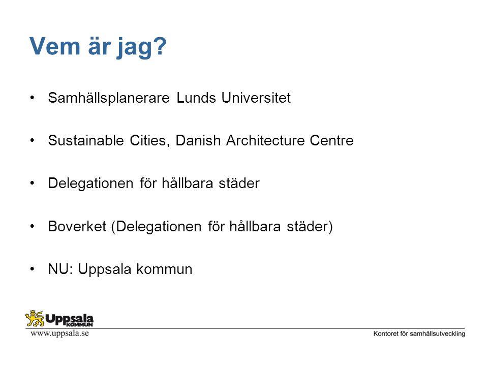 Vem är jag Samhällsplanerare Lunds Universitet
