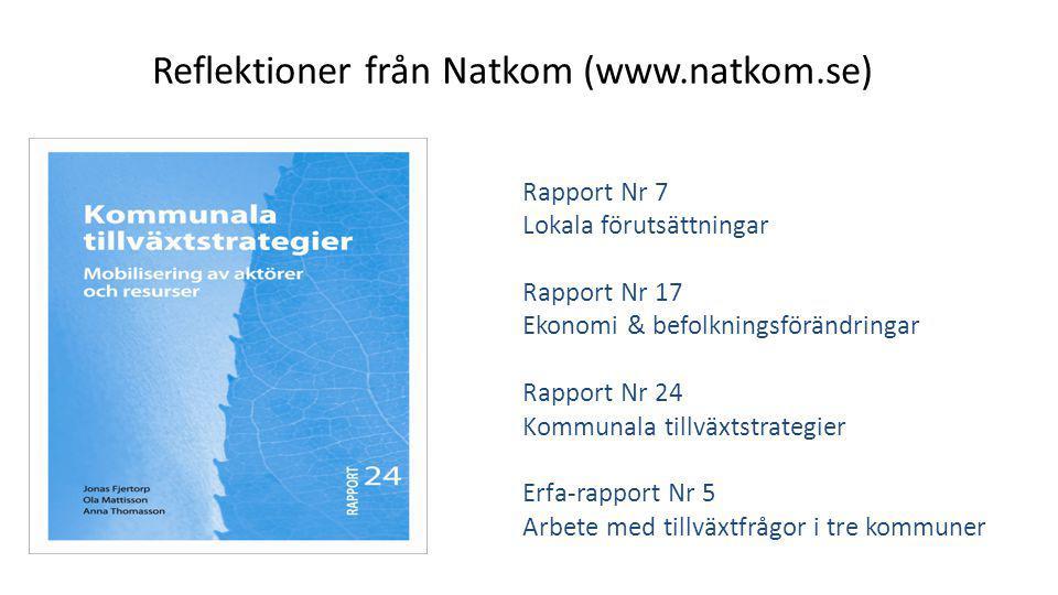 Reflektioner från Natkom (www.natkom.se)
