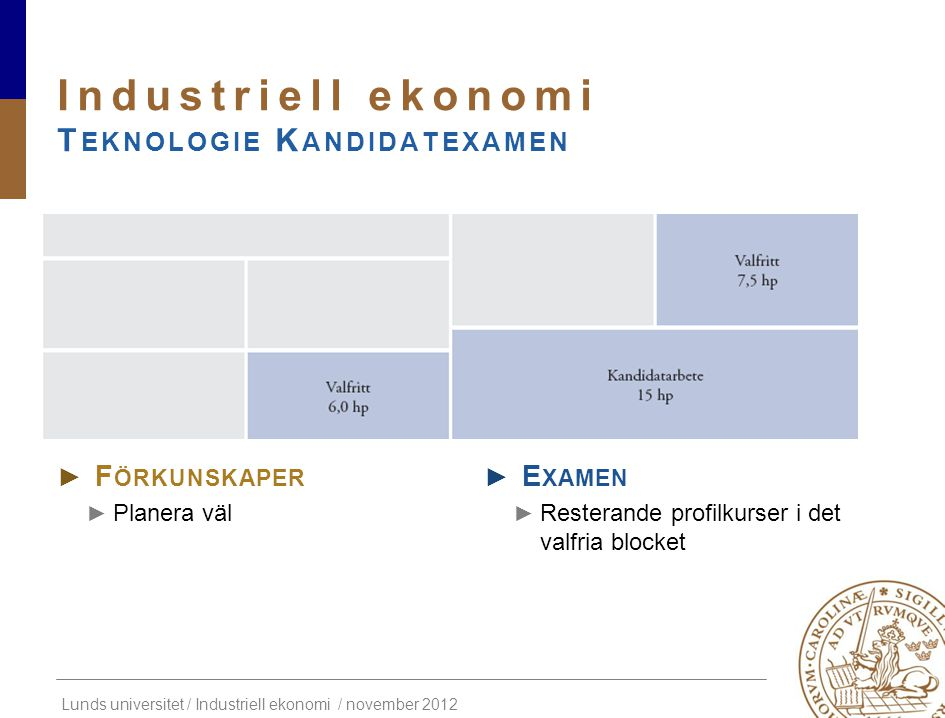 Industriell ekonomi Teknologie Kandidatexamen