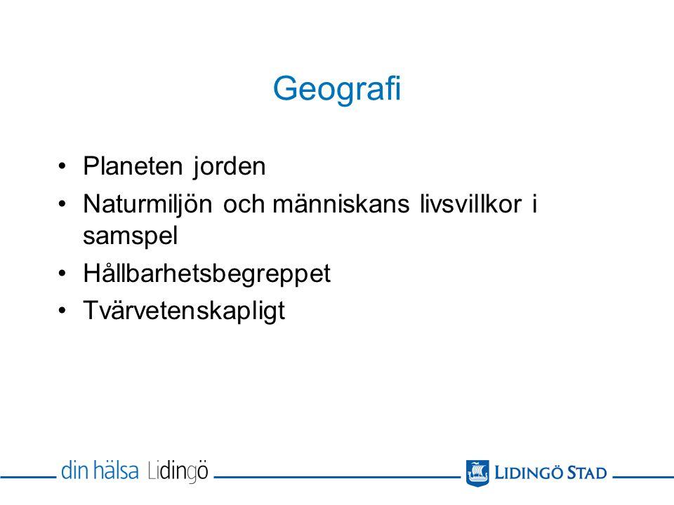Geografi Planeten jorden
