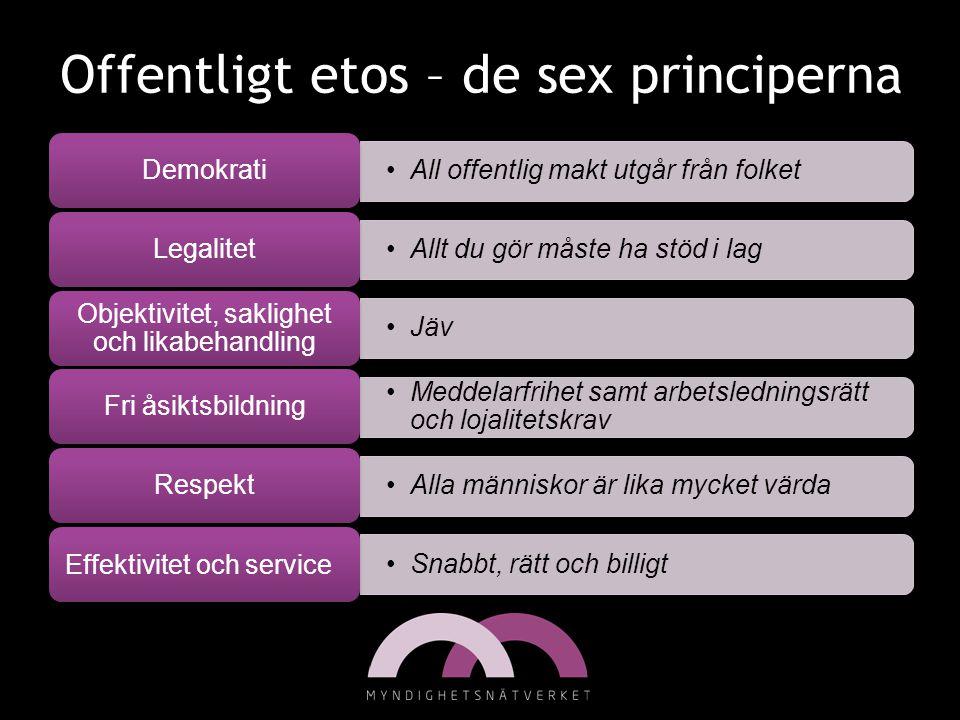 Offentligt etos – de sex principerna