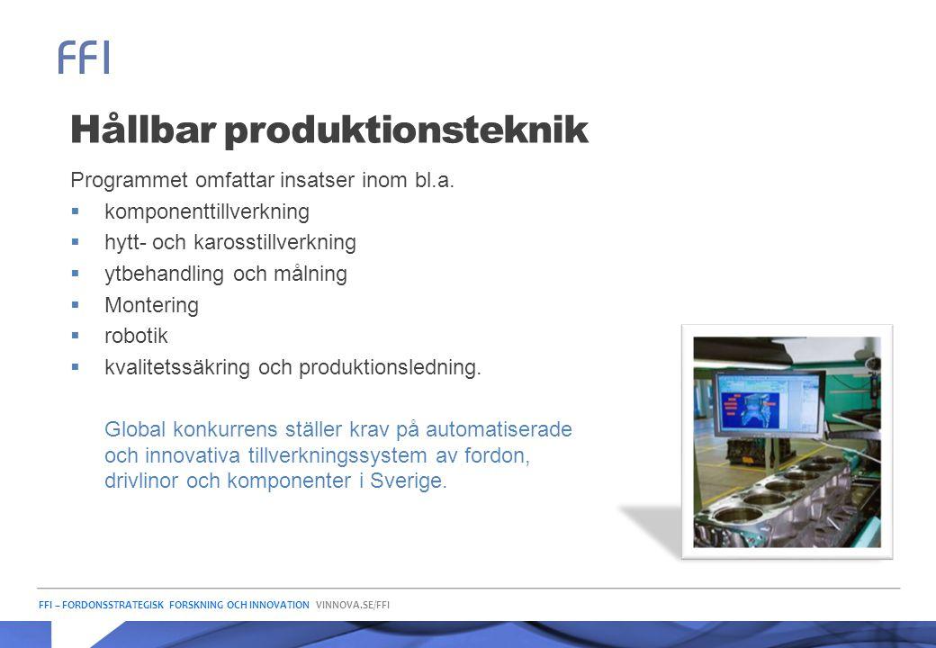 Hållbar produktionsteknik