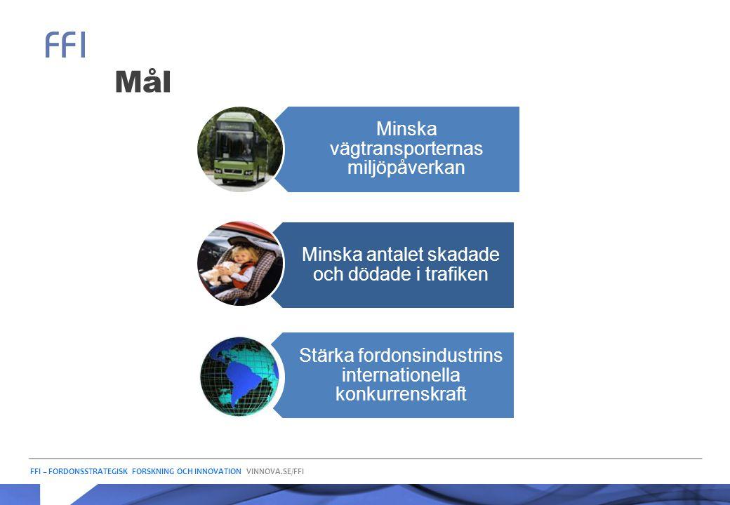 Mål Minska vägtransporternas miljöpåverkan