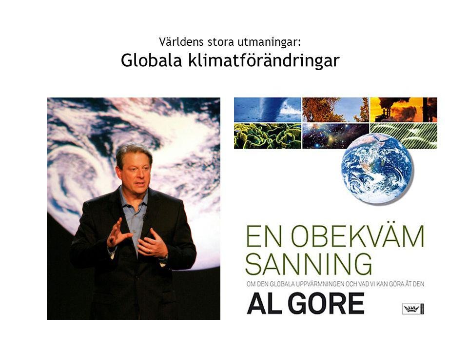 Världens stora utmaningar: Globala klimatförändringar