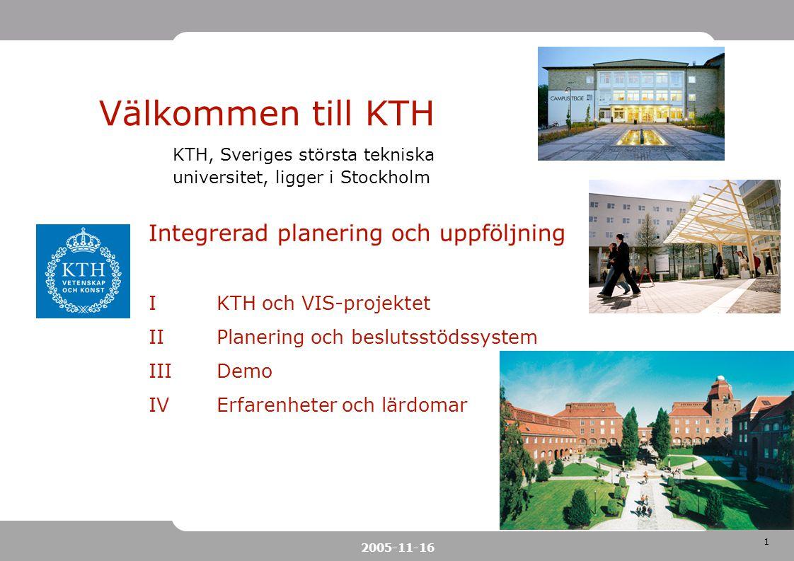 Välkommen till KTH Integrerad planering och uppföljning