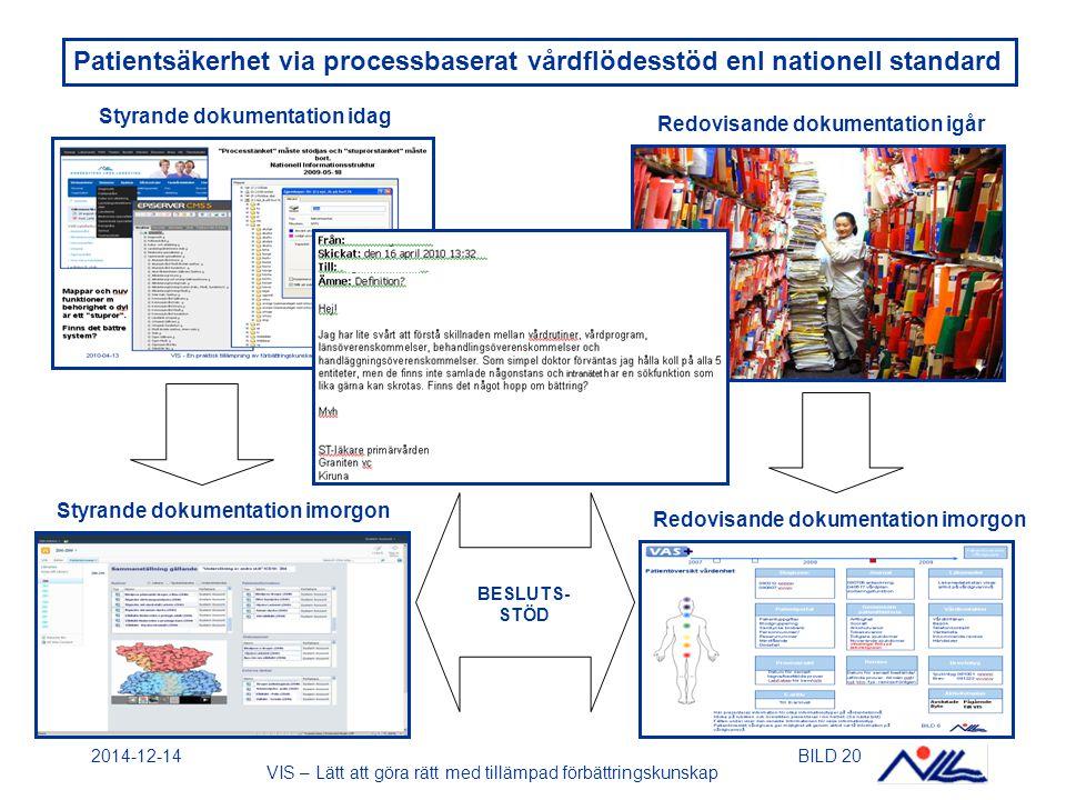 Patientsäkerhet via processbaserat vårdflödesstöd enl nationell standard