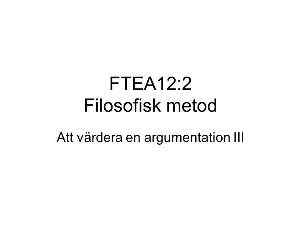 FTEA12:2 Filosofisk metod