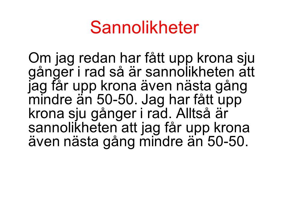 Sannolikheter