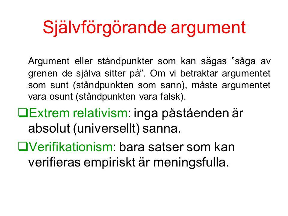 Självförgörande argument