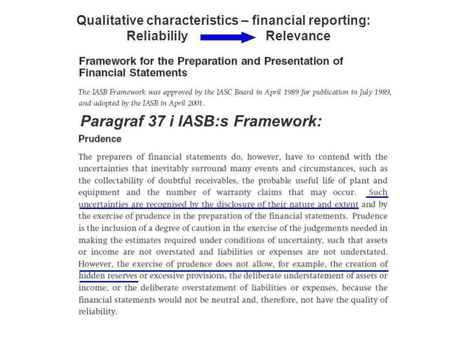 Paragraf 37 i IASB:s Framework: