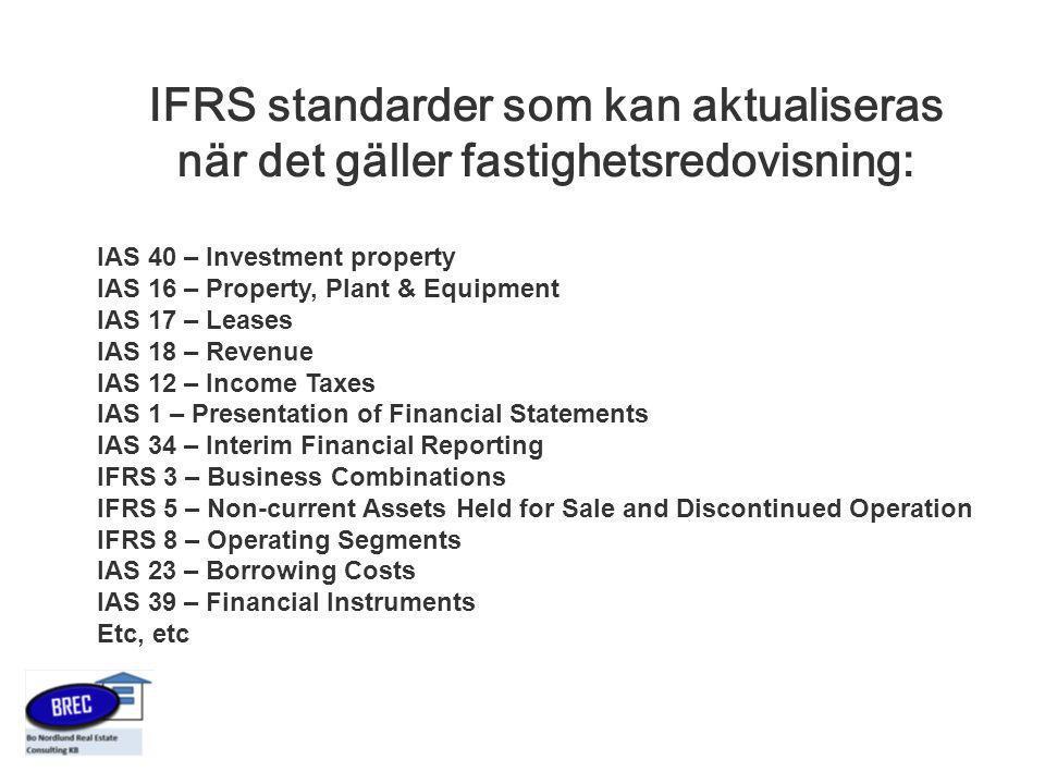 IFRS standarder som kan aktualiseras