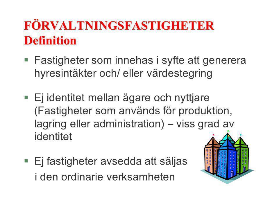 FÖRVALTNINGSFASTIGHETER Definition