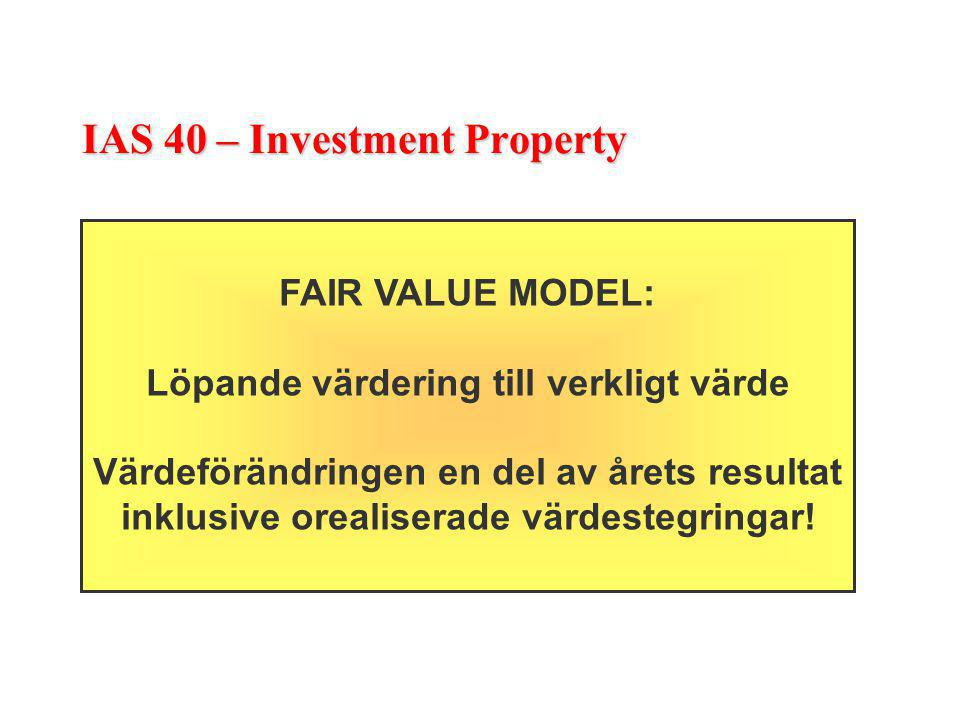 IAS 40 – Investment Property