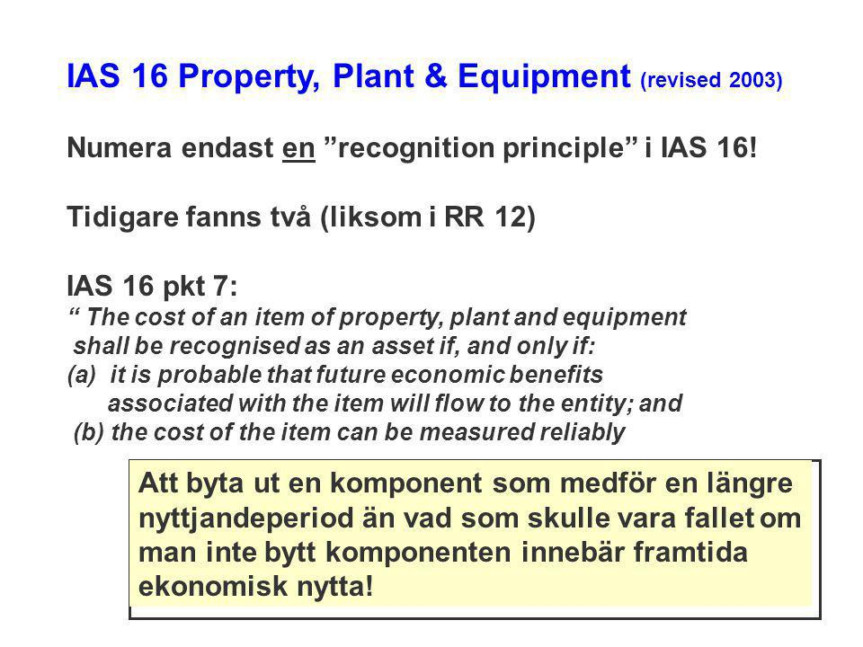 IAS 16 Property, Plant & Equipment (revised 2003)