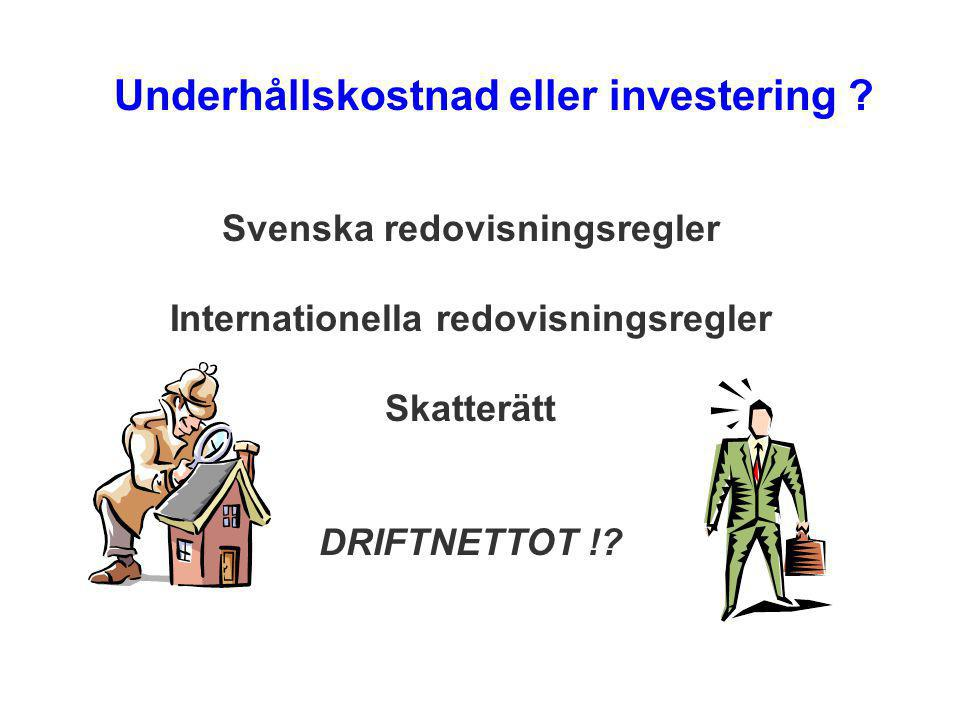 Svenska redovisningsregler Internationella redovisningsregler