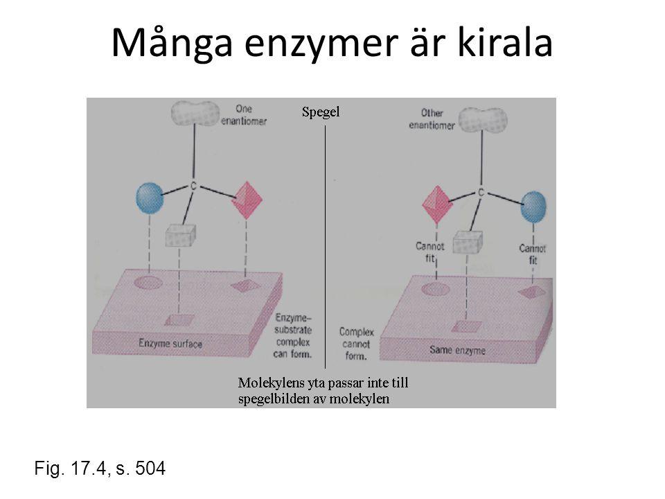 Många enzymer är kirala