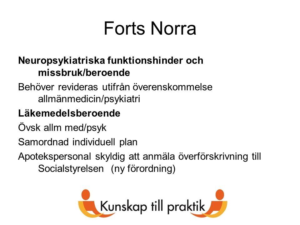 Forts Norra Neuropsykiatriska funktionshinder och missbruk/beroende