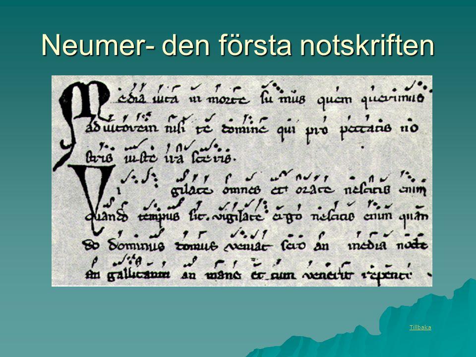 Neumer- den första notskriften