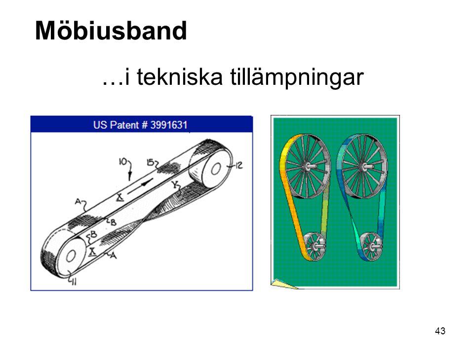 Möbiusband …i tekniska tillämpningar