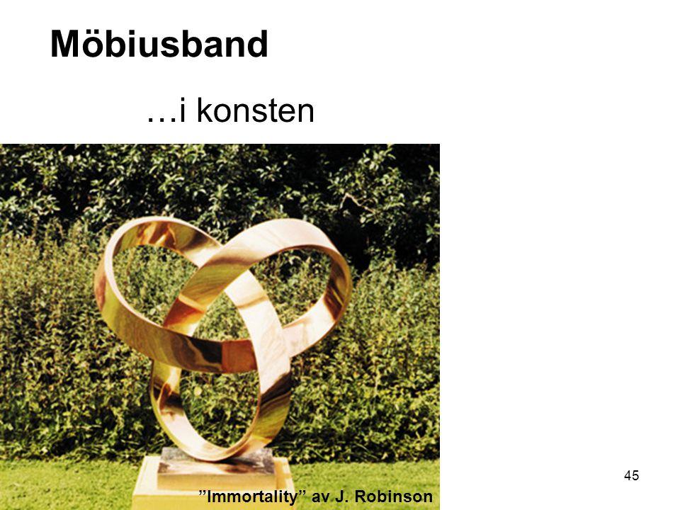Möbiusband …i konsten Immortality av J. Robinson