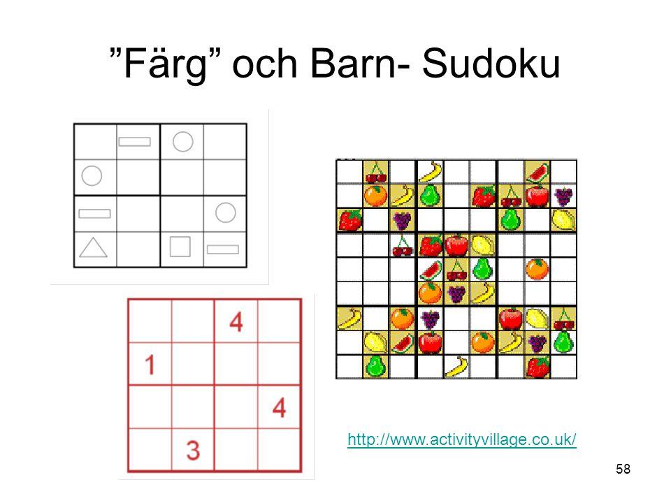 Färg och Barn- Sudoku
