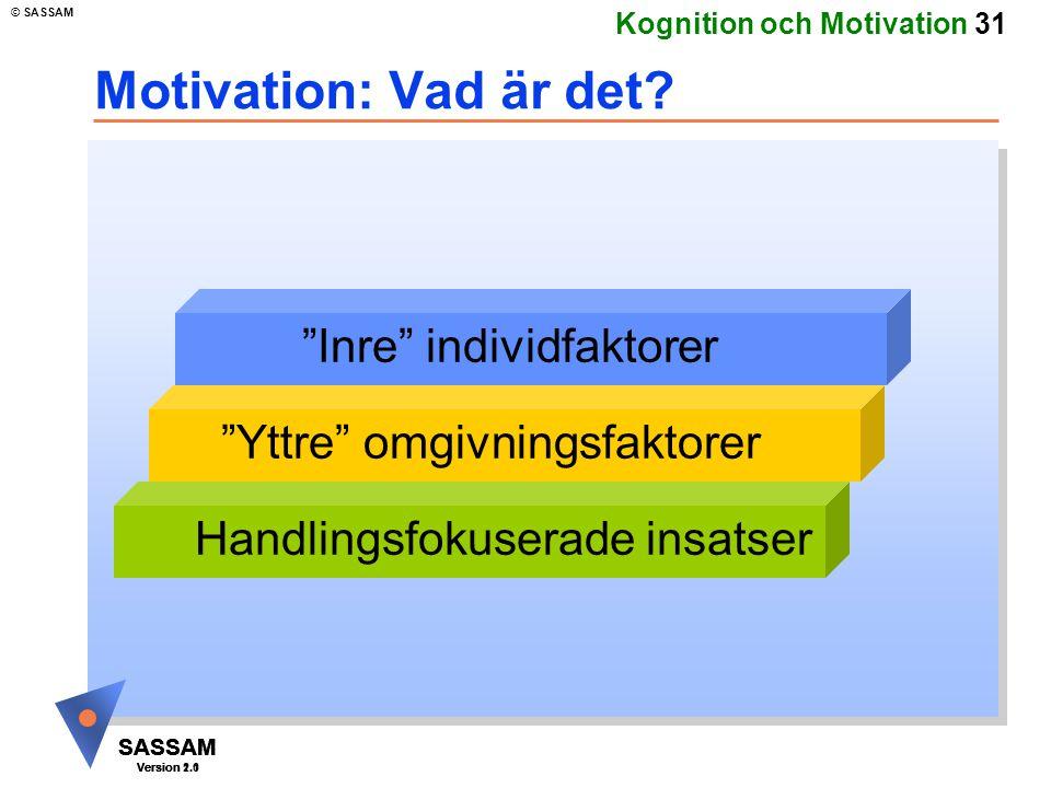 Motivation: Vad är det Inre individfaktorer
