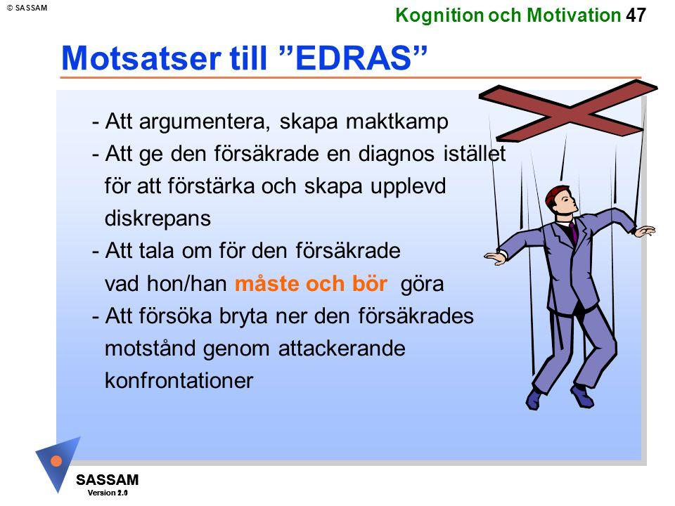 Motsatser till EDRAS