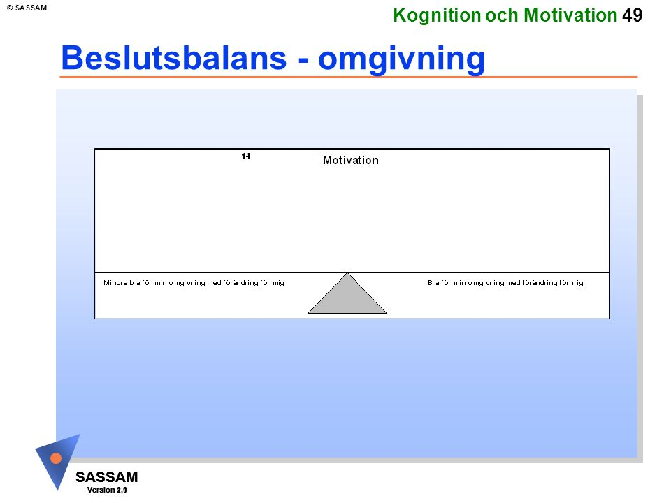 Beslutsbalans - omgivning
