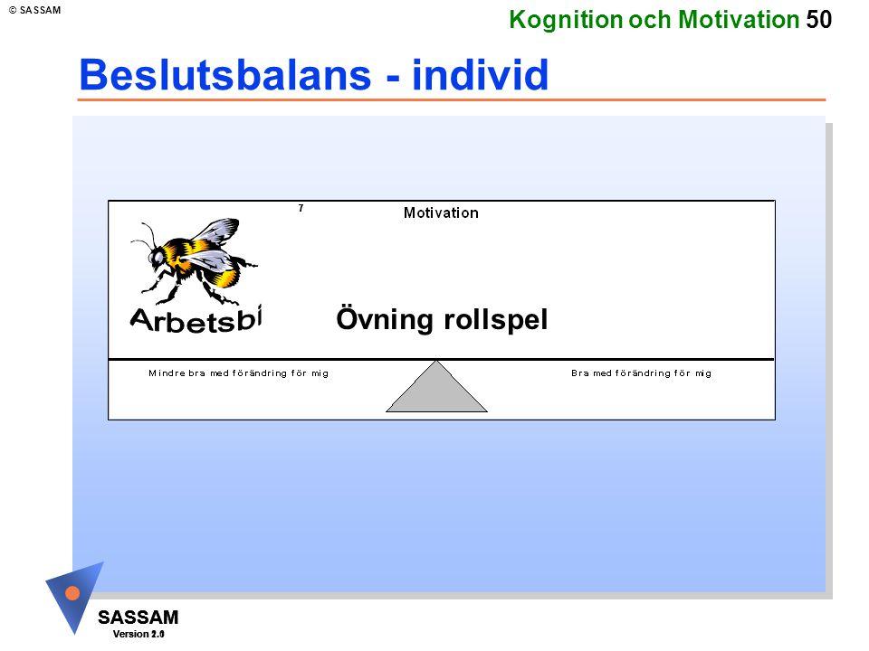 Beslutsbalans - individ