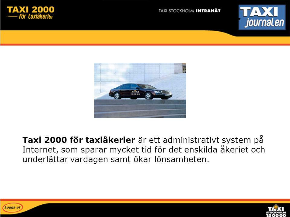 Taxi 2000 för taxiåkerier