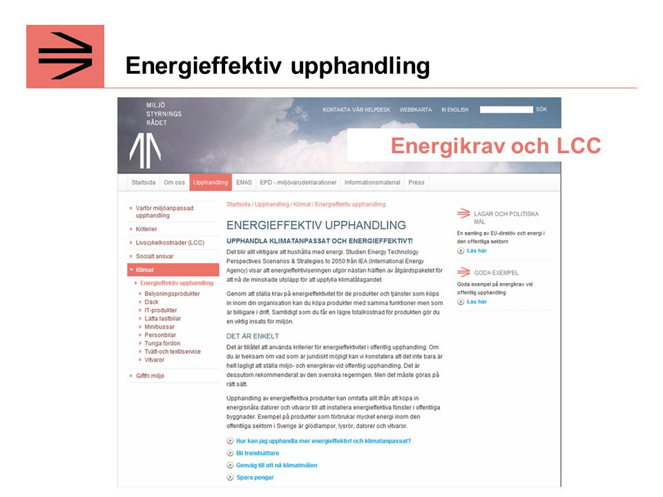 Energieffektiv upphandling