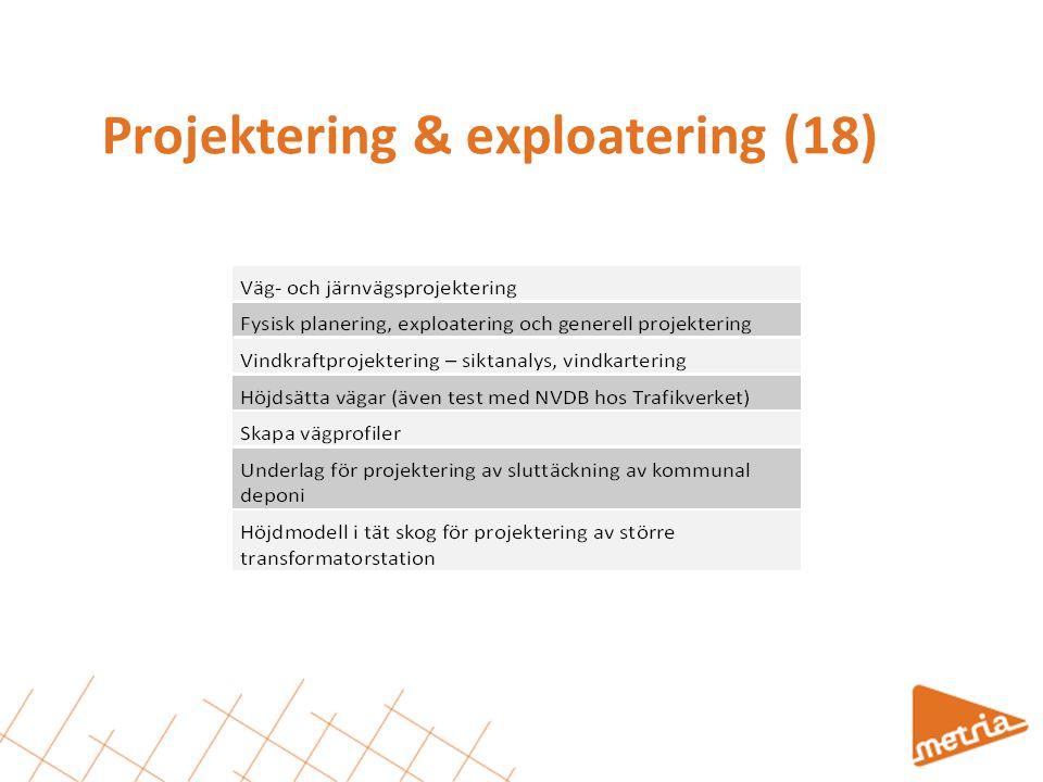 Projektering & exploatering (18)