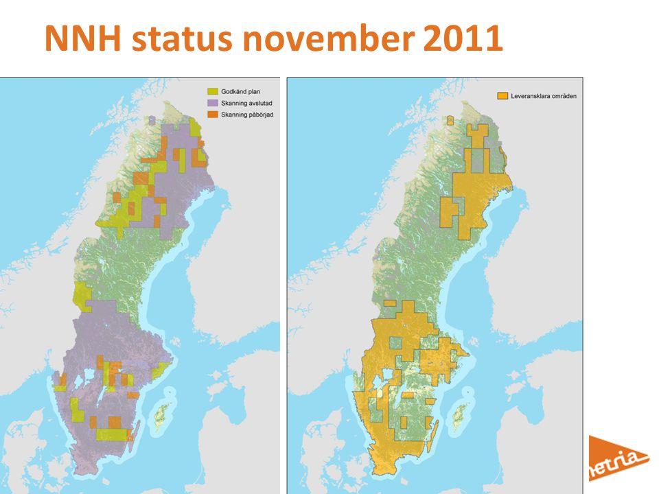 NNH status november 2011 Visar NNH-skanning status vid tid för inventeringen.