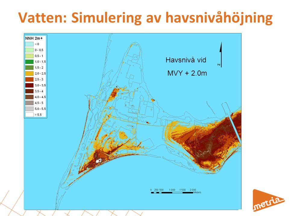 Vatten: Simulering av havsnivåhöjning