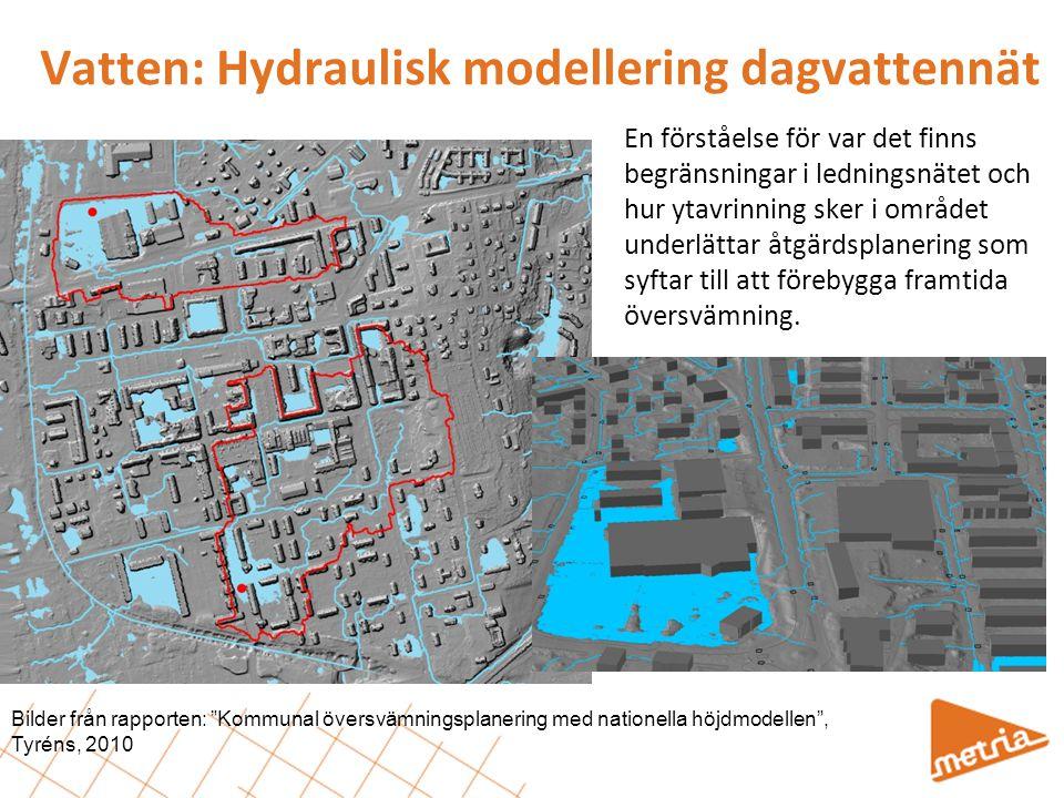 Vatten: Hydraulisk modellering dagvattennät
