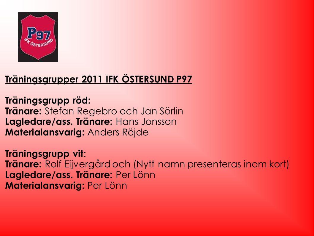 Träningsgrupper 2011 IFK ÖSTERSUND P97