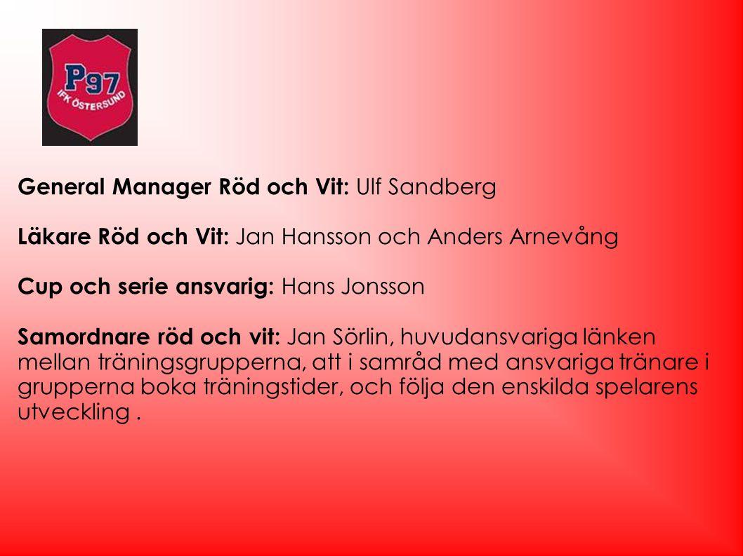 General Manager Röd och Vit: Ulf Sandberg