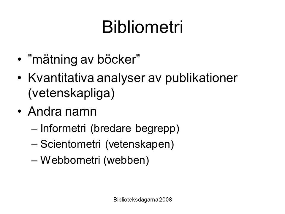 Bibliometri mätning av böcker