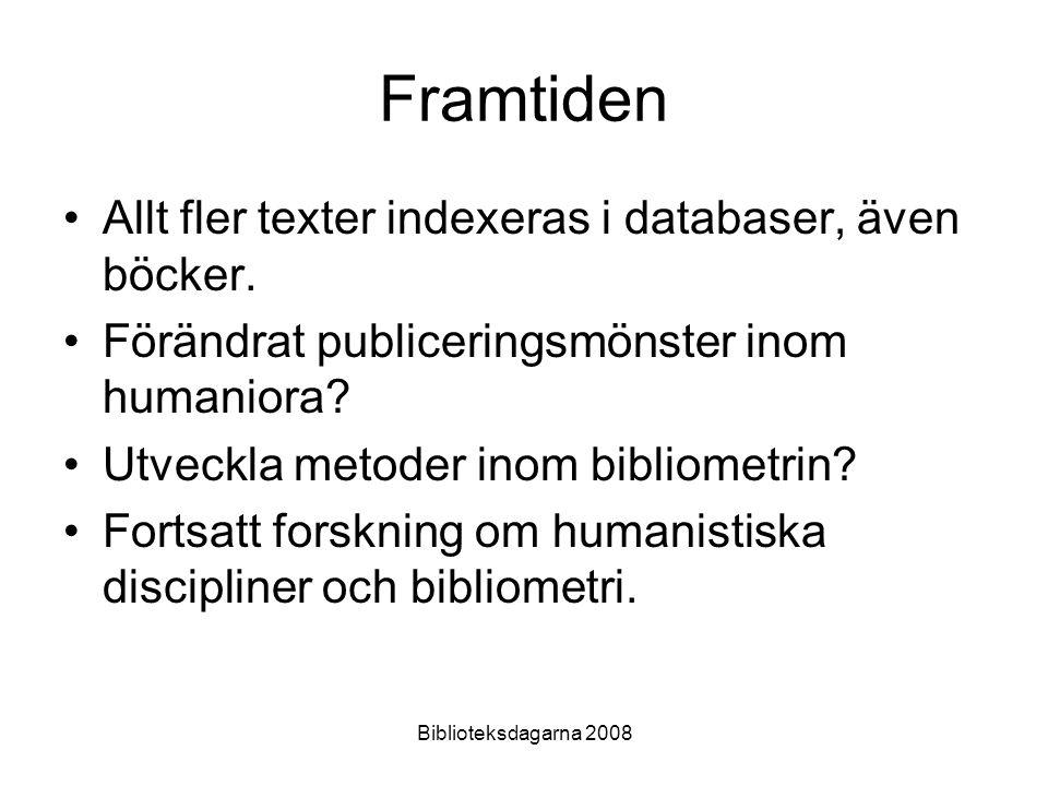 Framtiden Allt fler texter indexeras i databaser, även böcker.