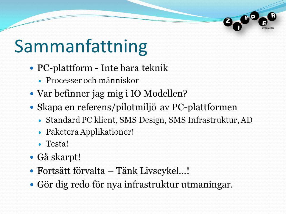 Sammanfattning PC-plattform - Inte bara teknik