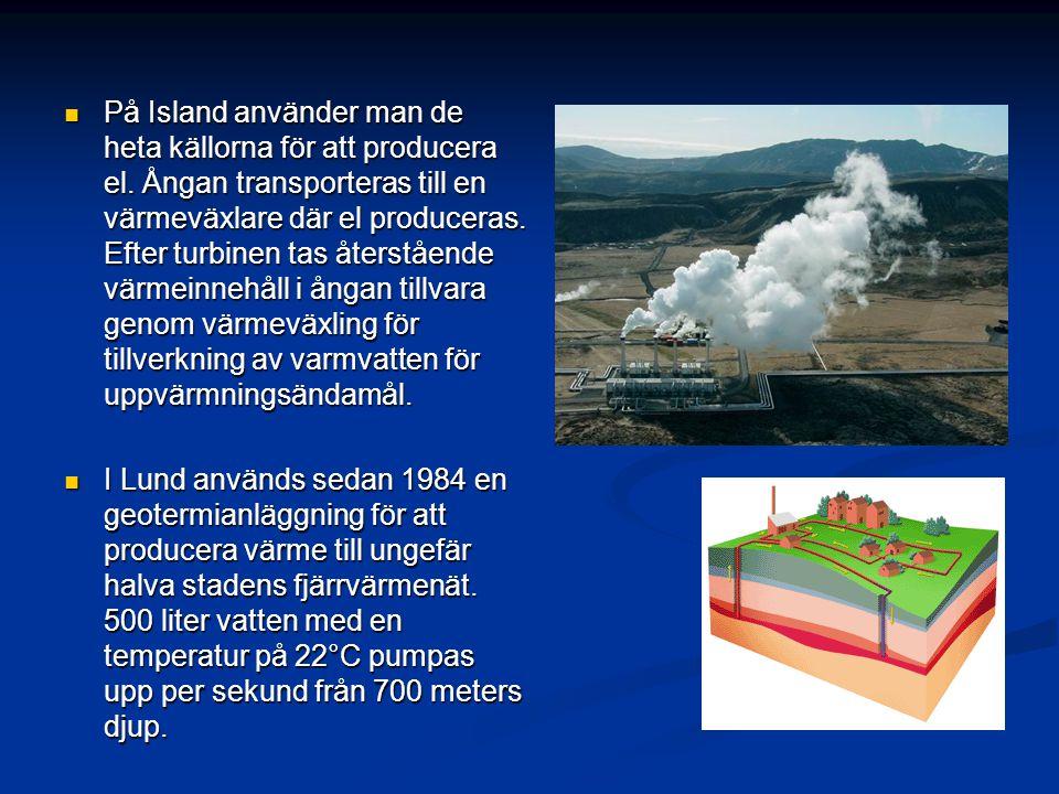 På Island använder man de heta källorna för att producera el