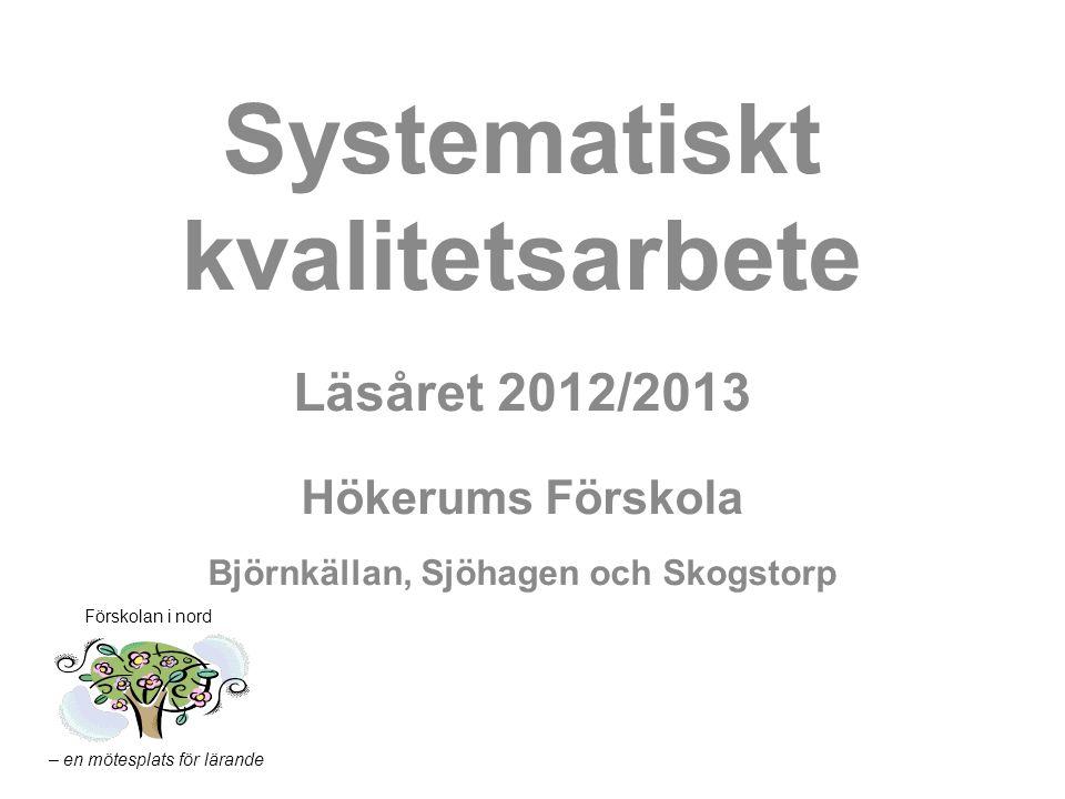 Systematiskt kvalitetsarbete Björnkällan, Sjöhagen och Skogstorp